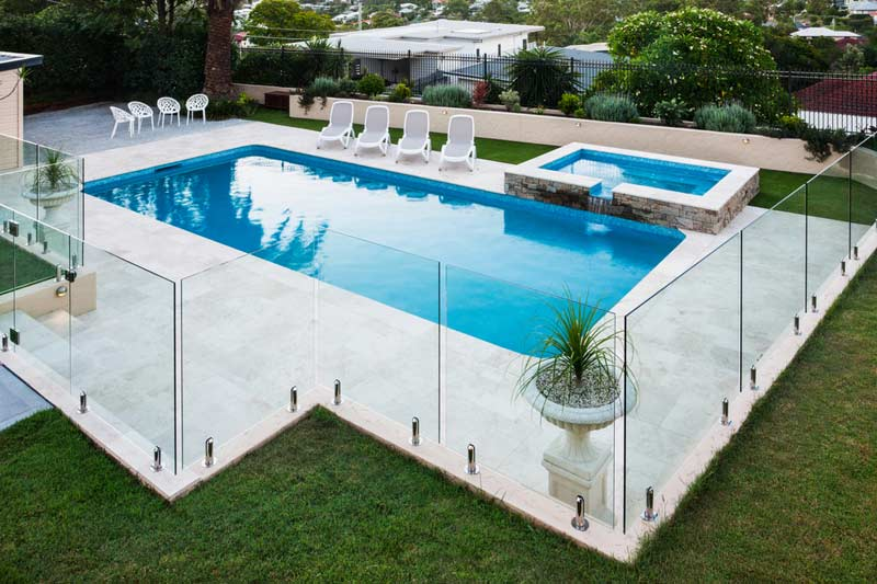 Image result for glass pool fence